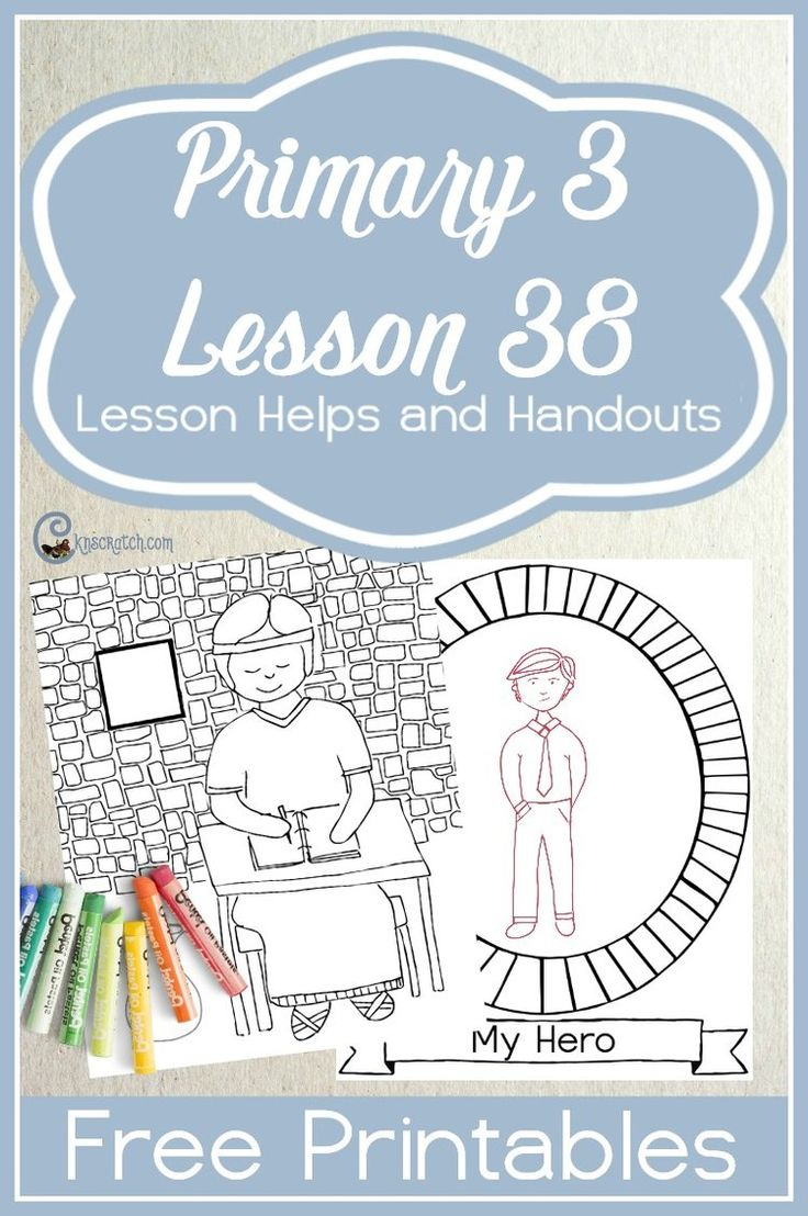 Such a great LDS site! Free handouts and helps for teaching Primary 3 Lesson 38: I Can Pure and Righteous