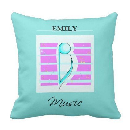 Congratulations Note Musical Performance Throw Pillow - pink gifts style ideas cyo unique