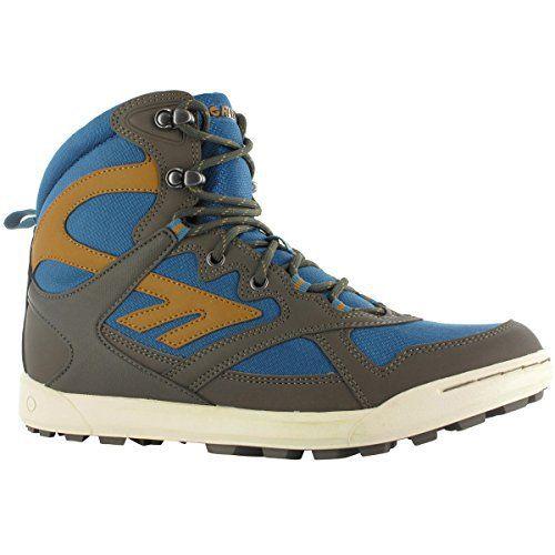Hi-Tec Men's Phoenix Sport WP Walking Boots – US 10 – Olive/Worn Denim/Rustard