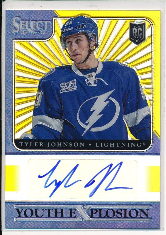 13-14 Select Youth Explosion GOLD #YE-TJ Tyler Johnson Tampa Bay Lightning 02/10