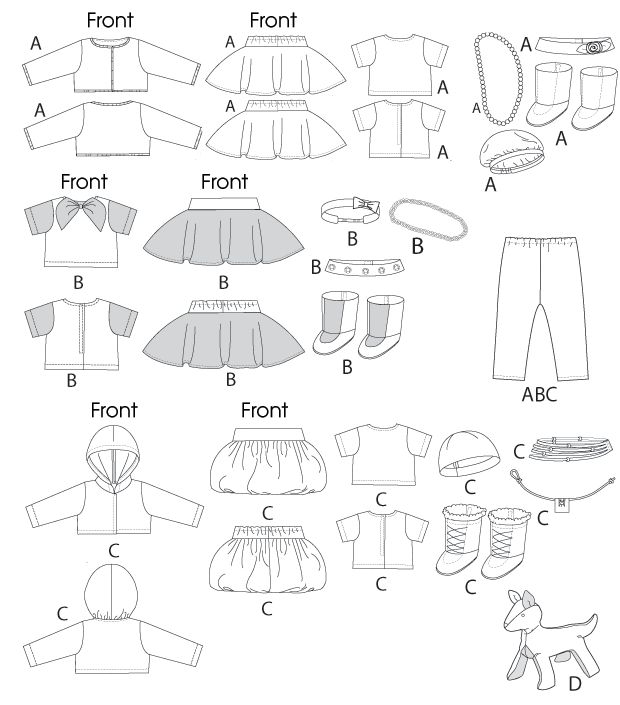 Free Printable Doll Clothes Patterns Clothes For 18 Doll