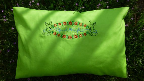 baby pillow cases 13X19 100 combed cotton 320 by MagicEmbroidery, $18.00