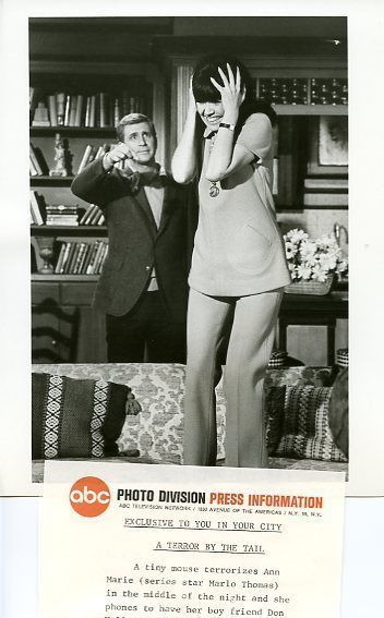 That Girl Marlo Thomas Ted Bessell 1969 ABC TV Photo