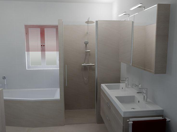 Wanden Voor Douche : ... douche met betegelde wanden. Exact passend ...