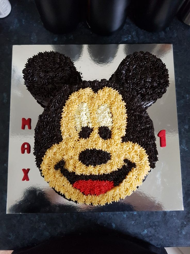 Mickey Mouse cake I made for a 1st Birthday