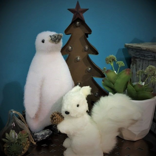 Embrace the winter feel with these cute animals in polar white.
