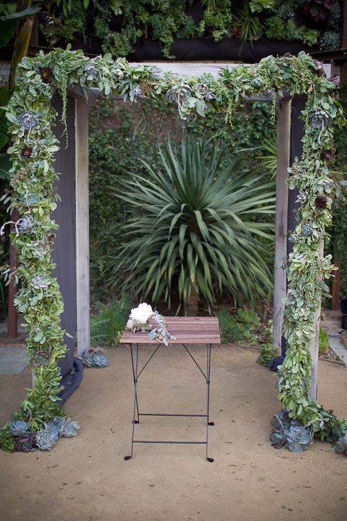 Succulent wedding arch <3