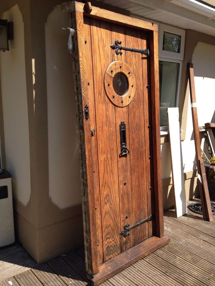 Solid Oak Front Door Frame Original English Period Wood