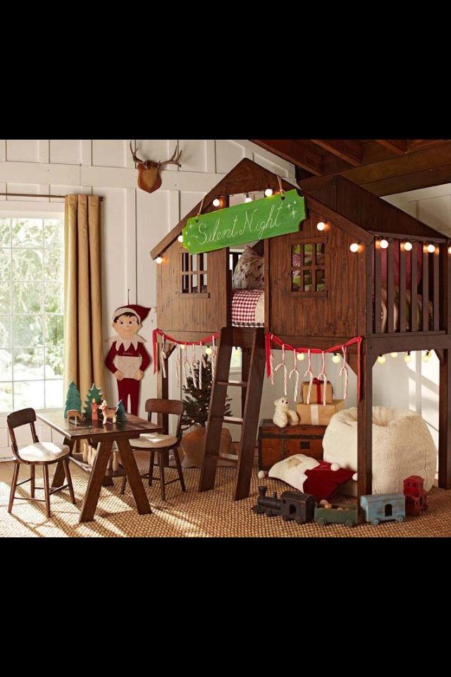 Pottery Barn Tree house bed, Treehouse loft bed, Pottery