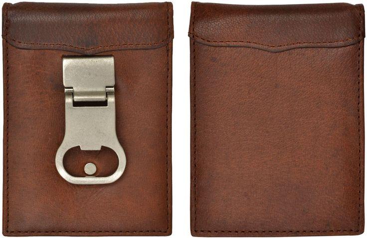 3D Usa Marrom Básico carteira masculina de couro Abridor De Garrafa clipe de dinheiro 27W831