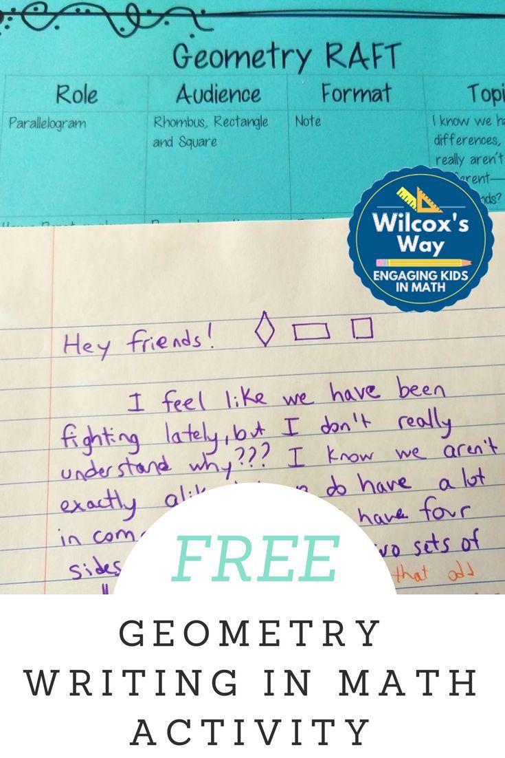 Geometry RAFT Writing in Math Activity   - Math Explorations ...