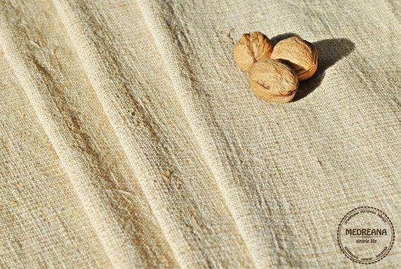 Homespun Linen Hemp Per 1 Yard lenght  Antique by Medreana on Etsy, $25.00