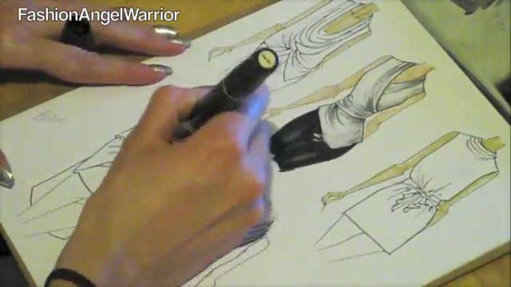 Fashion Sketching 101- How to become a fashion designer  Fashion Angel Warrior Christine DeAngelo's tips on how to sketch as a fashion designer.