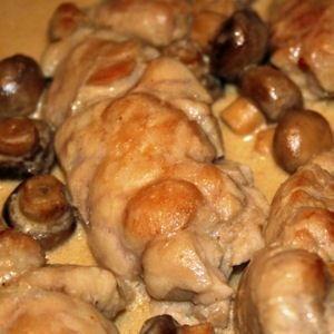 ris de veau aux champignons