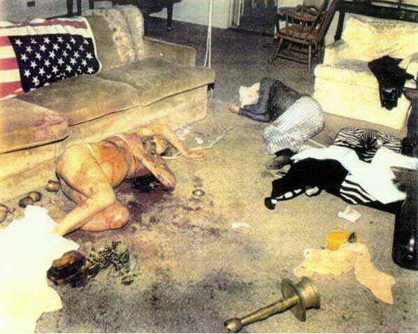 Sharon Tate Polanski crime scene photos