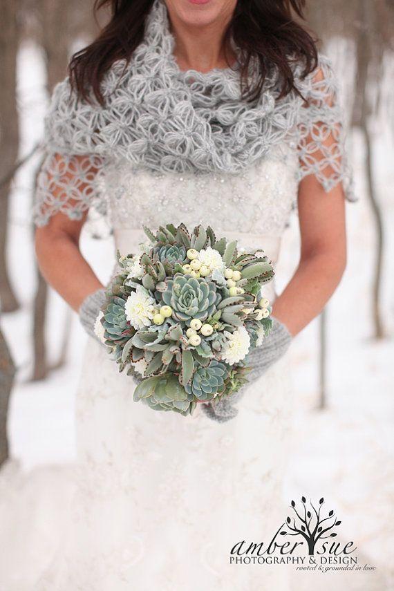 Bridal ShrugCrochet Shawl Bridal Shawl Ivory by MODAcrochet