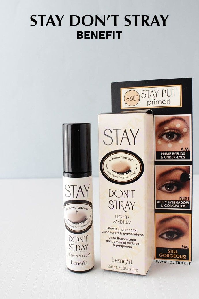 Review Stay Don't Stray Benefit - Primer occhi per una base omogenea #review #primer #benefit