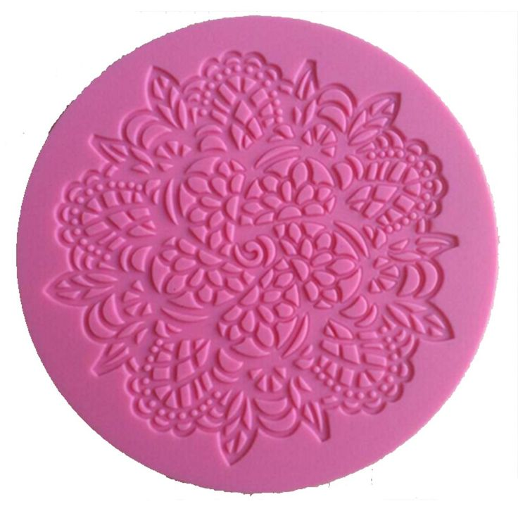 Silicone Round Lace Fondant & Craft Mould