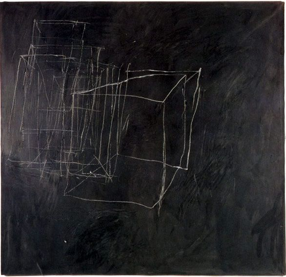 Cy Twombly . nice linework for a wonderful black and white painting.
