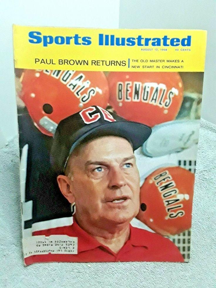 Sports Illustrated August 12 1968 Paul Brown Cincinnati