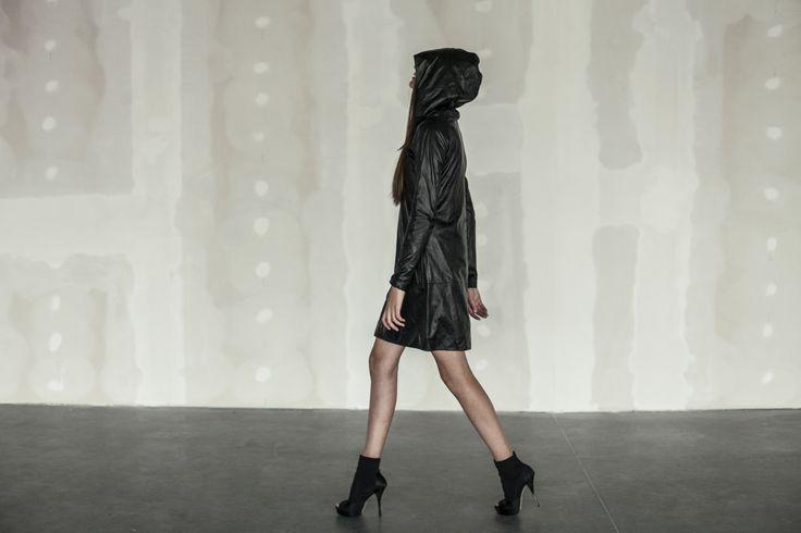 """Meet Okolinka- the ultimate ZAYDER's version for """"Little Black Dress"""" #lbd #leatherdress #zayder"""