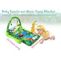 Wish | Rainforest Music Baby Play Soft Mat Activity Play Gym Toy for baby above 6 months (Color: Green)
