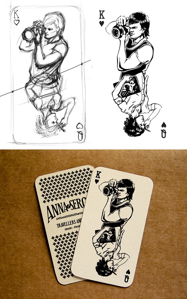 Business card design- having a playing card as one side would definitely highlight my illustration abilities... If I had any. :)