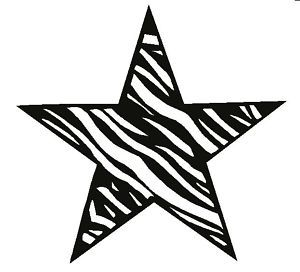 ZEBRA STAR TATTOO