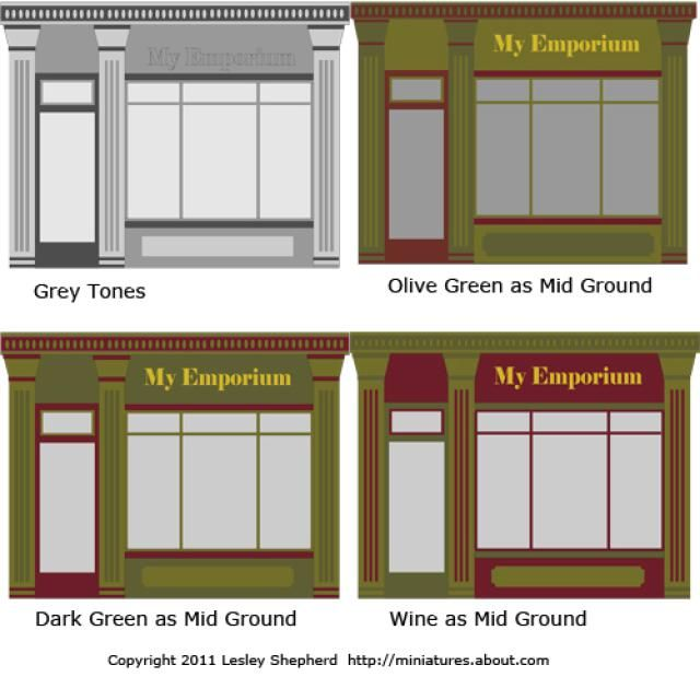 Tutorials to Help You Make Miniature Shops: Designing Exterior Color Schemes For Miniature Shops