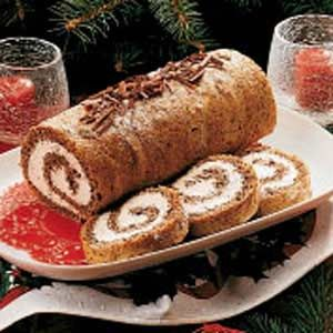 Pecan Cake Roll Recipe -<B>Meet the Cook:</B> Like my husband, I'm a retired teacher. This dessert is one that always went over big as a snack whenever I'd take it to share in the teachers' lounge! -Shirley Awald, Walkerton, Indiana