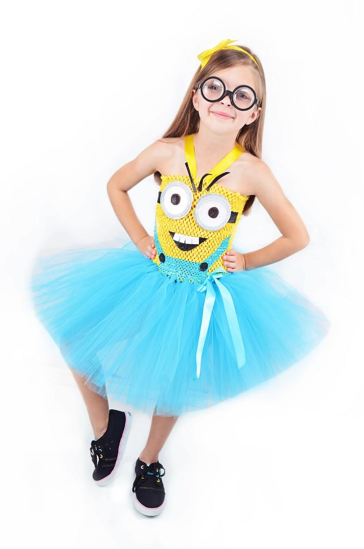 Girls Minion Costume- Despicable Me- Minions costume- Minion - birthday costume- Minion birthday by HaydiePotateeBoutq on Etsy