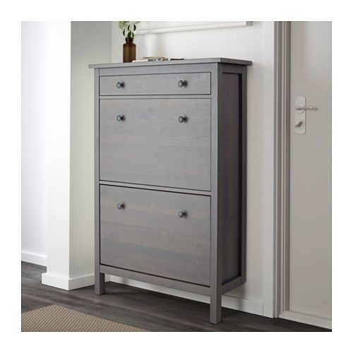 17 best ideas about gray stained cabinets on pinterest for Ikea shoe cabinet hemnes
