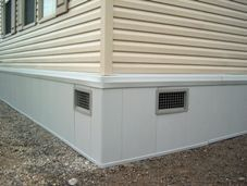insulated skirting for mobile homes