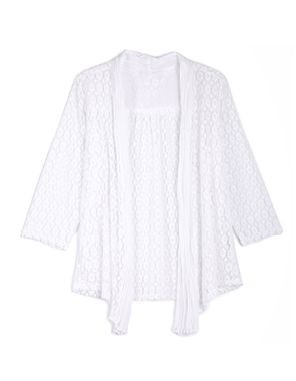 white lace coverup
