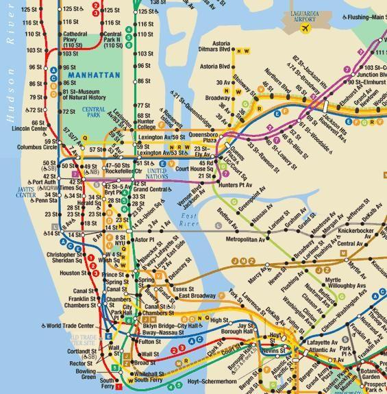 Subway Map M Train