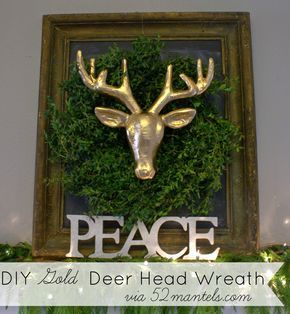 HAPPY Holidays: DIY Gold Deer Head Wreath -- Tatertots and Jello