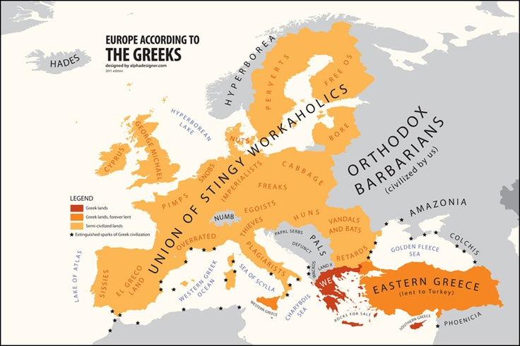 Internasjonal politikk og kart : hvilke lands stereotyper er dette? (3) - kilde: Internasjonalen.com - en blogg av @kimgabrielli