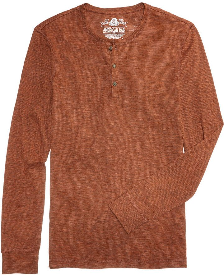 American Rag Men's Thermal Henley, Created for Macy's