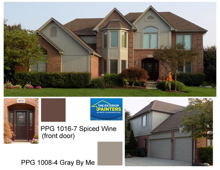PPG 1008-4 Gray By Me for the trim. The front door is PPG & 49 best PPG - Pittsburgh Paints Exterior images on Pinterest ... pezcame.com