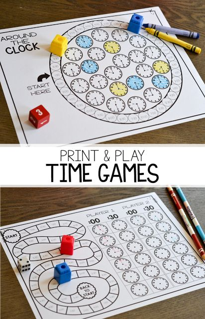 Click on over to see some of my favorite no prep, print and play games for telling time to the hour and half hour! #mathgames