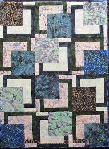 Nancy Zieman/Sewing With Nancy/Debbie Bowles/Big Quilts | Nancy Zieman Blog love it in blue hand dyed or batik