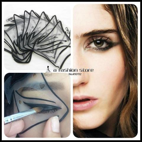 7 style Quick Drawing Cat Smokey Eyeliner Template-makeupbyyo