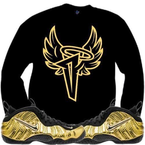 Metallic Gold Foamposites Sneaker Crewneck - PENNY WINGS