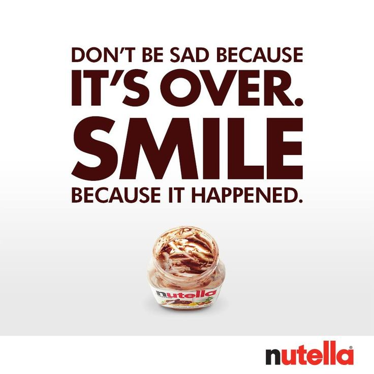 Then smile again, because there's always more Nutella!