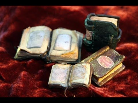 DIY: How To Make Antique Books, Dream Journal, Witchcraft Book in Polymer Clay - YouTube