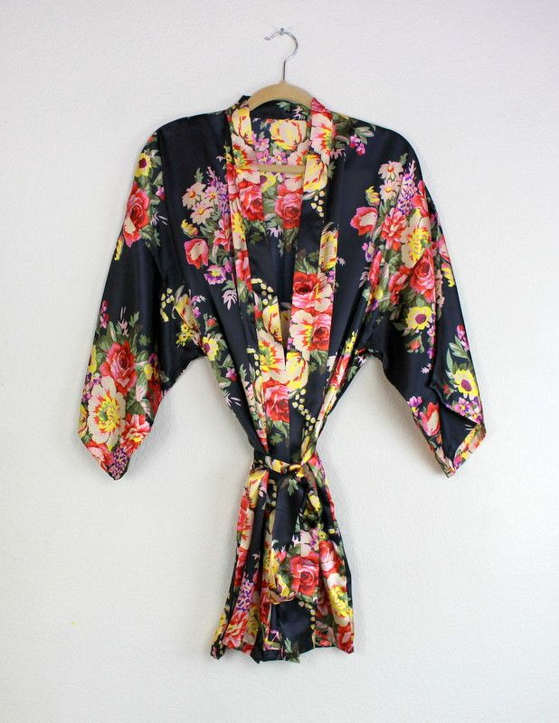 These robes are a great way to say thank you to your bridesmaids and they are affordable! They have a beautiful large floral print with no peacocks!!! These are soft, silky, light and airy. They are m