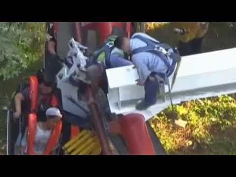Roller Coaster Accident: Six Flags Roller Coaster Magic Mountain Ninja R...