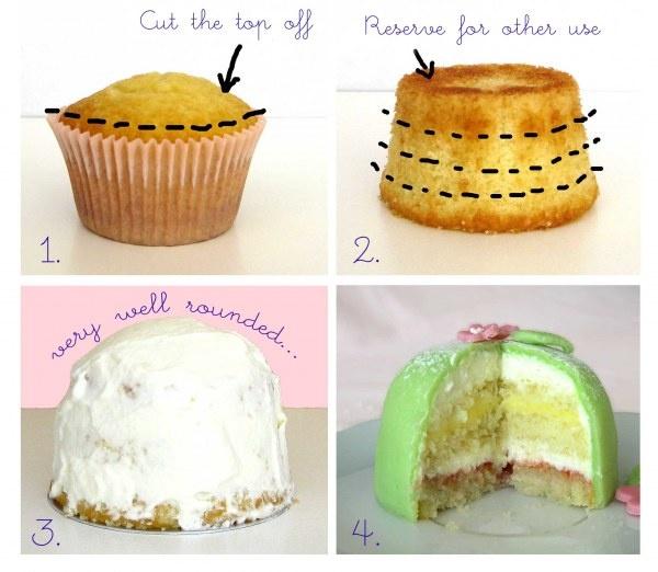 how to make a princess cupcake
