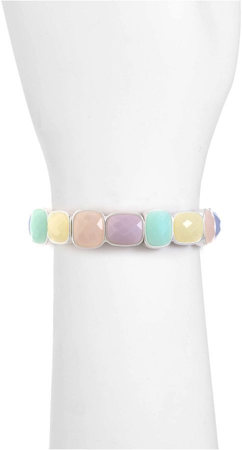 Liz Claiborne Liz Claiborne Womens Multi Color Stretch Bracelet 2pwR17