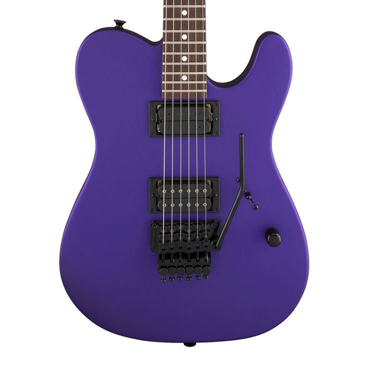 Charvel USA Select SD2 HH Electric Guitar with Floyd Rose - Satin Plum with Case
